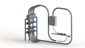 Beispiel-einer-4-Linien-Rohrpostanlage-mit-einer-separaten-Senden-und-Empfangsstation